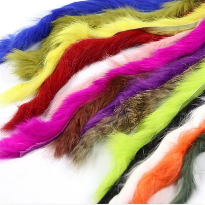 RABBIT ZONKER STRIPS -17 Colors Fly Tying Material Material Tying Best Jig Fishing Lure Making 2ec2f4