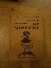 Géroudet Les palmipèdes  illustré ornithologie canard mouette goéland grèbes