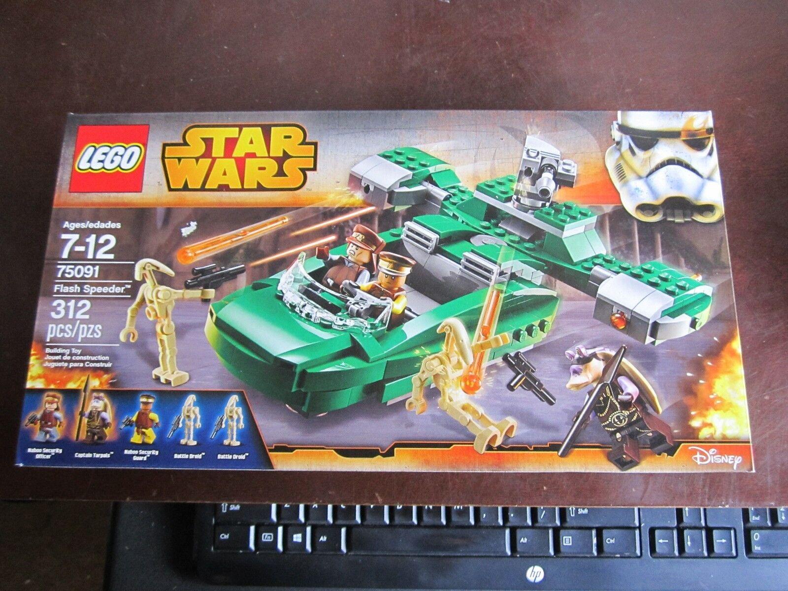 Lego star wars nouveau 75091 Flash Speeder chef Tarpals  Battle Droid 312 pcs  parfait
