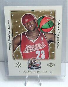 2003-Upper-Deck-Holiday-Season-Winter-League-LeBron-James-5X7-Card-RC-LB-NPL03
