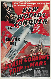Flash-Gordon-039-s-Trip-to-Mars-1938-Buster-Crabbe-serial-movie-poster-24x36