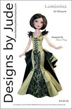 Luminous Doll Clothes Sewing Pattern for Ellowyne Wilde & Prudence Tonner