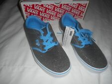 VANS Atwood Girls Shoes SNEAKERS 2.5 Sparkle Grey bonnie Blue for ... 043e529991
