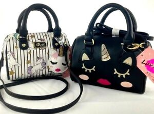 Luv-Betsey-Johnson-Mini-Unicorn-Kitty-Cat-Kittycorn-Unikitty-Crossbody-Bag