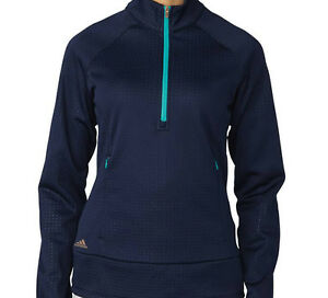 s 1 2 Zip Wind Adidas Ae9097 Navy Women Fleece Tqf5Y