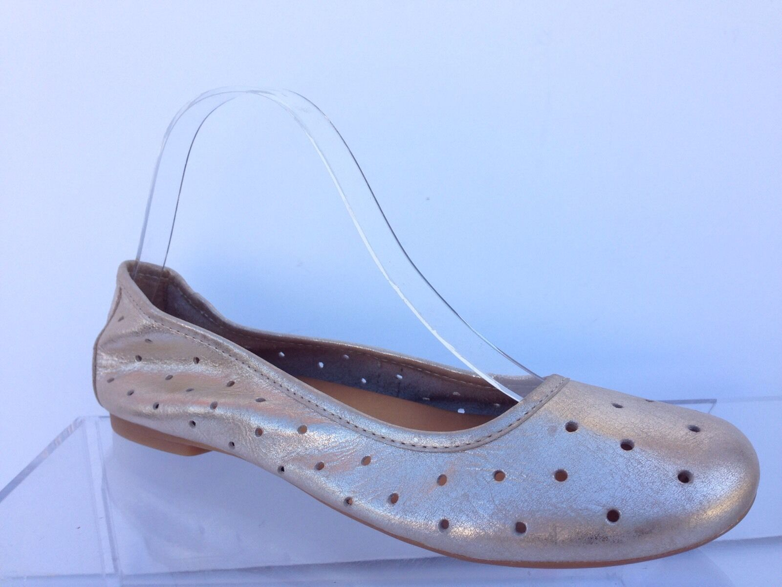 Kork-Ease NESSA Leder Ballet Flats Gold Missmatched Right Größe 8 Left 8.5