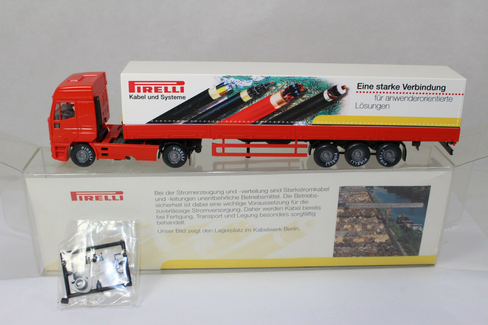 Sw2380, WIKING Siemens IVECO Eurostar Pirelli 1 87 box Comme neuf PUBLICITAIRE modèle 65