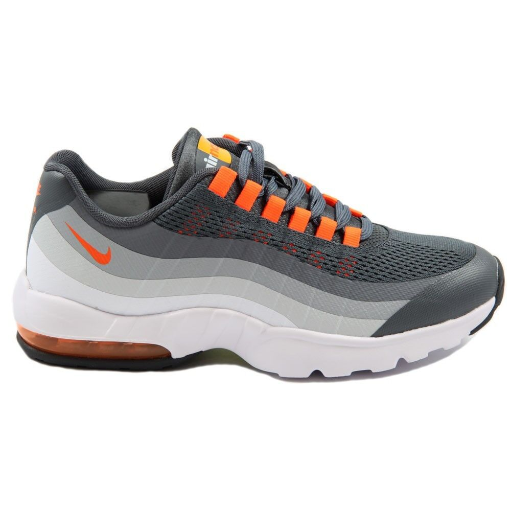 Damen Nike Air Max 95 95 95 Ultra Dunkelgrau   Orange Laufen Training Schuhe Größe 12   9ab622