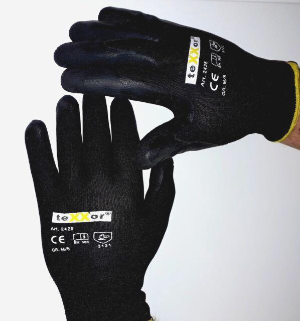 240x Arbeitshandschuhe Polyester-Strickhandschuhe LATEX BESCHICHTET Texxor Gr.10