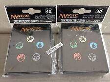 80 Ct. Magic the Gathering MTG Mana Symbol Back Ultra Pro Deck Protector Sleeves