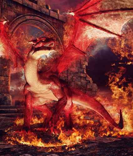 Murales Fantasy repositionable Dragon Fire grand repositionable Fantasy Vinyle Décoration Intérieure Art 43287a