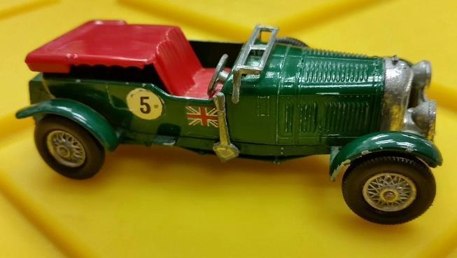 1929 bentley 4 1   2 liter in orig.kasten matchbox - modelle von vorgestern von lesney   5