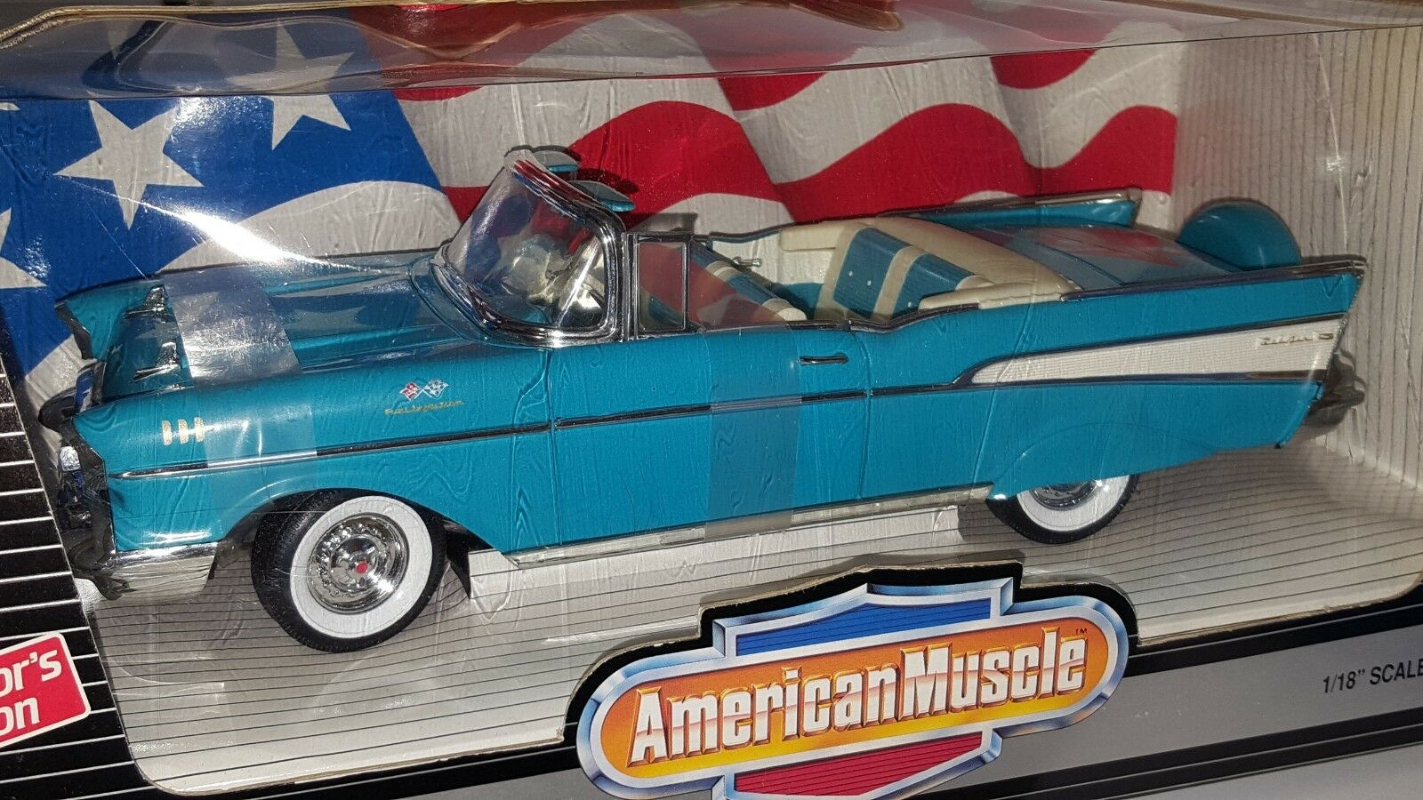1/18 Ertl American Muscle 2018 Chevrolet Bel Air Convertible 40TH aniversario OD
