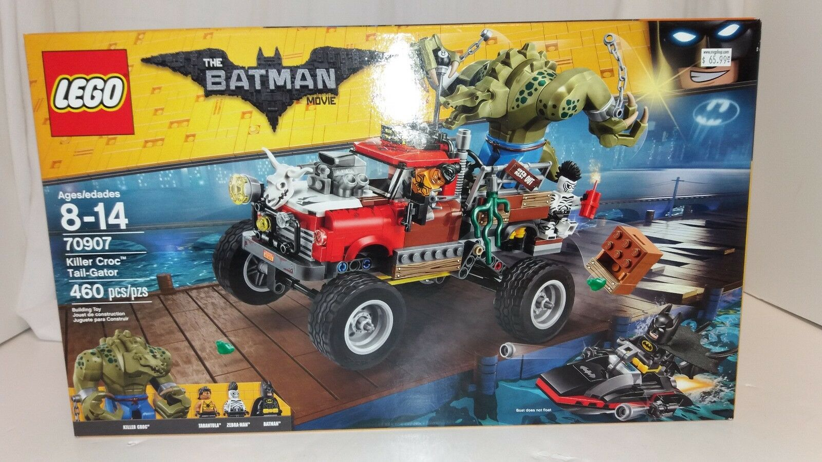 Lego Batman Movie Killer Croc Tail-Gator 460pc Set NEW    70907 Tarantula Zebra.
