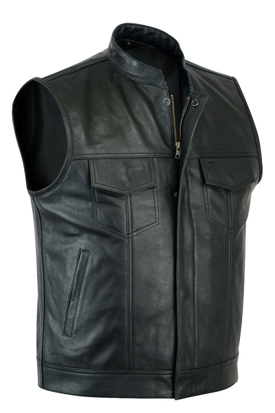 Sons of Anarchy Real Leather Mens Waistcoat Motorcycle Biker Vest UK free P&P