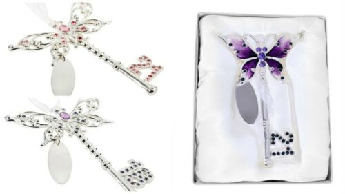 Butterfly Gift Boxed 18th 21st Birthday Party Key Keepsake Special Present