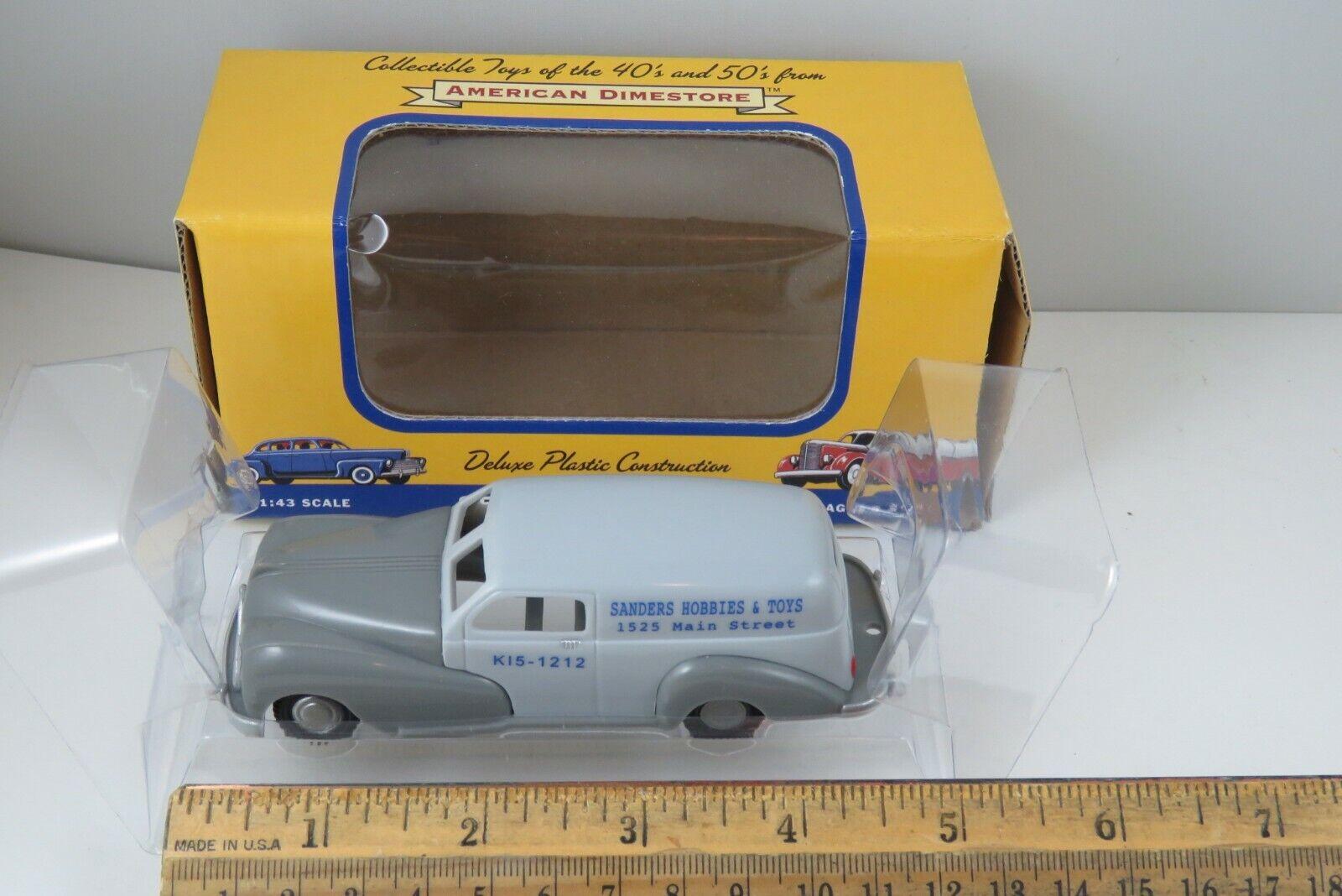 American Dimestore Cabin Cruiser and Trailer O scale 1//43 plastic