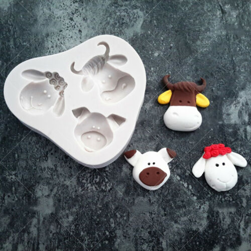 1pc cute Pig Cow Sheep Animal Silicone mold fondant mold cake decorating tooBE