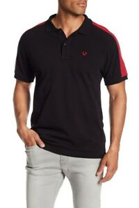 7ead203a7 Image is loading mens-true-religion-Polo-shirt-black-red-100-