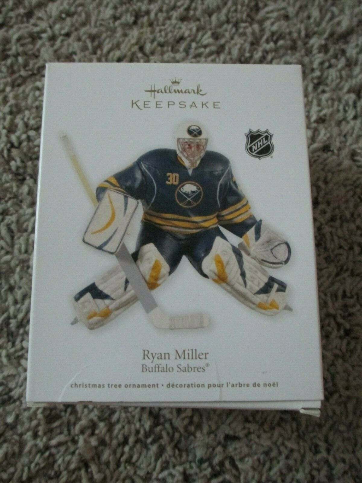 Hallmark Keepsake Nhl Ryan Miller Buffalo Saber Ornament Ebay