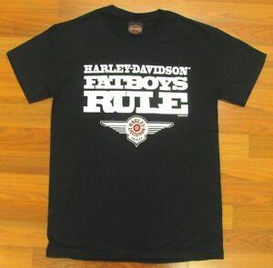 HARLEY DAVIDSON HD BLACK FATBOYS RULE T-SHIRT SHORT SLEEVE
