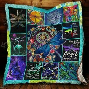 Dragonfly Purple Dragonfly Fleece Blanket 50x60x80 Made In US