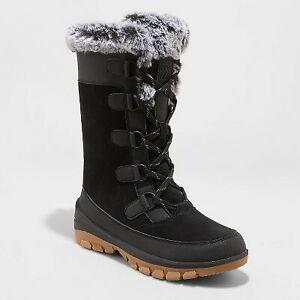 Women's Cecily Waterproof Winter Boots - All in Motion Black 6