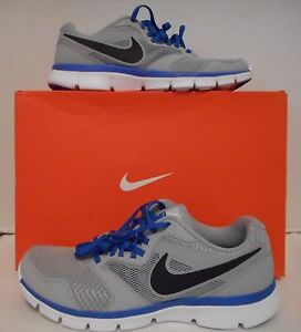 773ecdeea282 NIB Mens NIKE Flex Experience RN 3 Grey Cobalt Blue Athletic Shoes ...