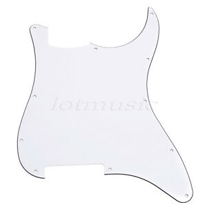 Guitar-Blank-Scratch-Plate-Pickguard-For-Fender-Strat-Parts-ST-3-Ply-White