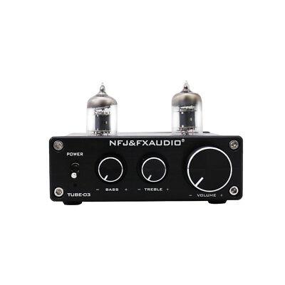 FX-Audio TUBE-03 HIFI Treble Bass Buffer 6J1 Tube Preamplifier Black