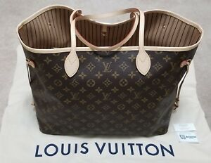 7328cba6041 Details about NEW 2018 AUTHENTIC LOUIS VUITTON MONOGRAM NEVERFULL GM TOTE  PURSE