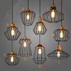 Black Chandelier Lighting Kitchen Lamp Modern Ceiling Lights Wood Pendant Light