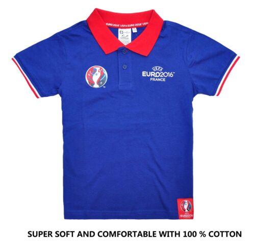1.99 kids UEFA EURO2016 football Short Sleeve Top T-Shirt Jersey tee t boy polo