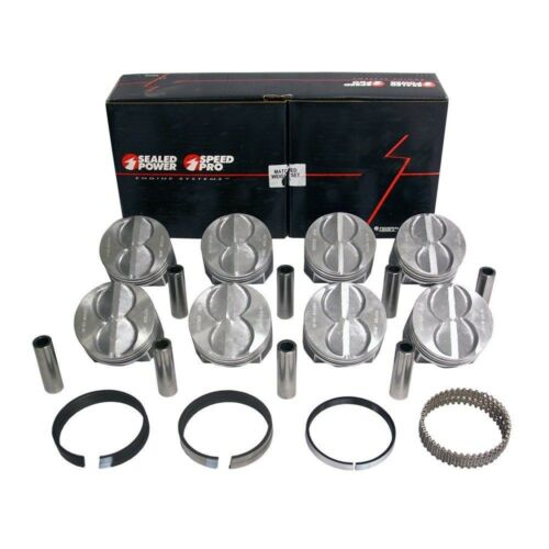 cast rings SPEED PRO Ford 289 302 Flat Top Hypereutectic Coated Pistons .020
