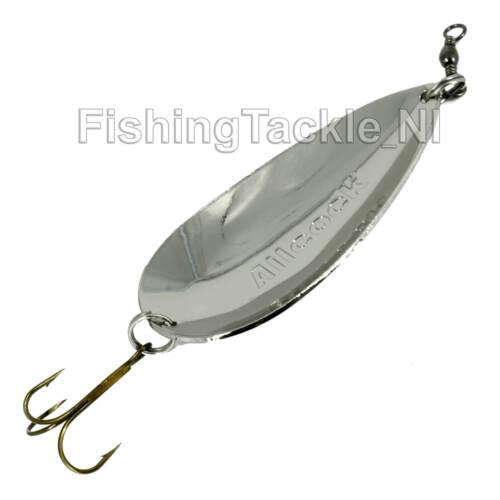"Allcock 3/"" Nickel Spoon Extra Heavy 36G Fishing Pike Salmon Fishing Lure"