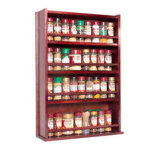 Spice-Rack-Wooden-Closed-Top-4-Tiers-Timber-Bar-72-Herb-and-Spice-Jars