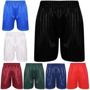 Kids Boys Shadow Stripe PE Shorts Sports Football Gym School Short Age 2-13 Year