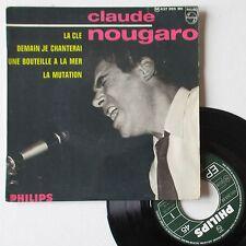 """Vinyle 45T Claude Nougaro   """"La clé"""" - RARE"""
