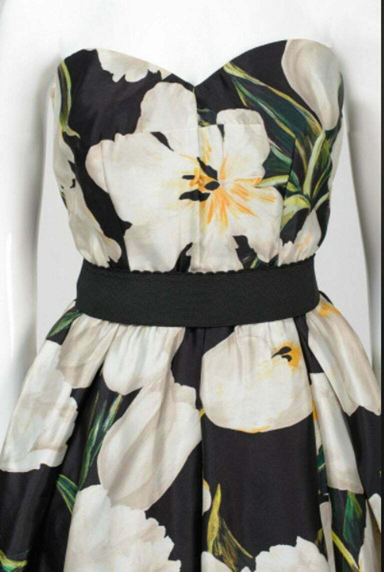 DOLCE and GABBANA TULIP PRINT GOWN 42 - 6 - image 3