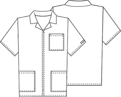 Ciel Blue Cherokee Scrubs Workwear Mens Zip Front Jacket 4300 CIEW