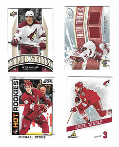 34-Card-lot-Phoenix-Coyotes-patch-game-used-jersey-relic-RC-parallel-gold-GU