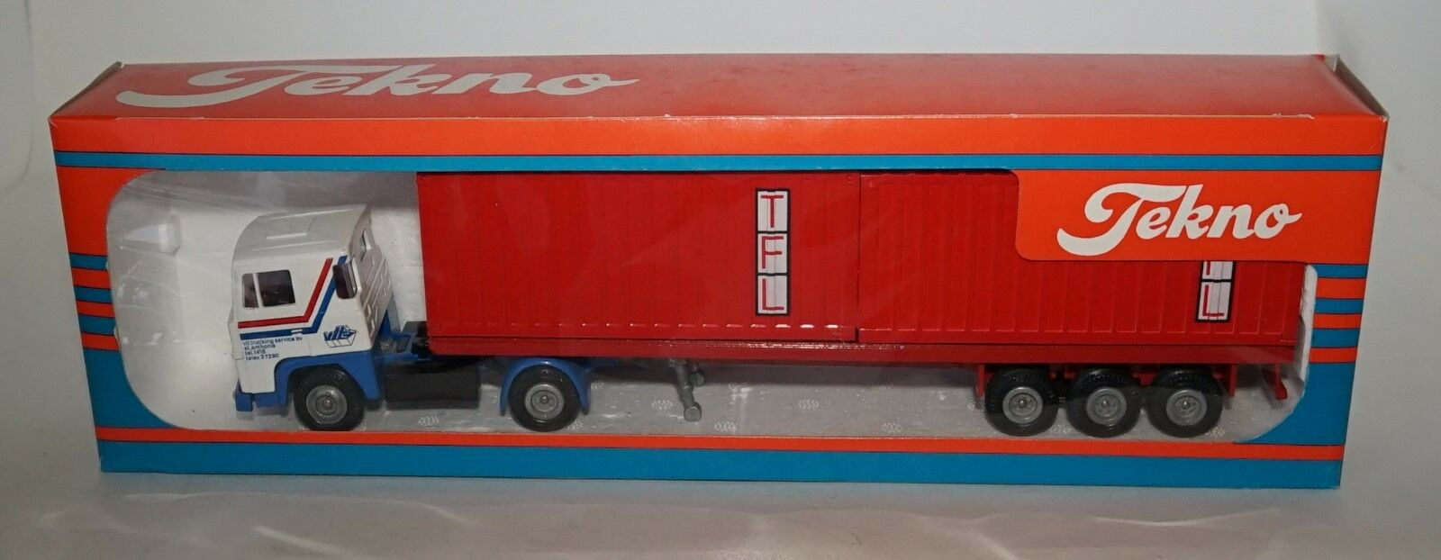 TEKNO Scania VIT With two TFL Containers in 1 50 SCALE.
