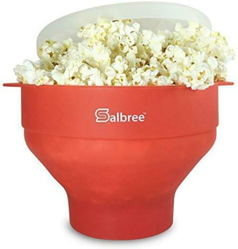 Salbree Microwave Popcorn Popper with Lid, Silicone Popcorn