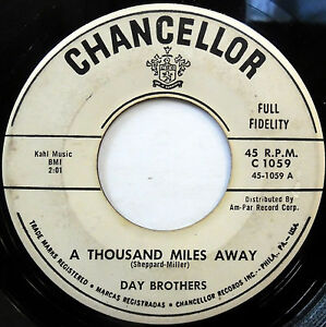 DAY-BROTHERS-doowop-CHANCELLOR-double-A-promo-45-A-Thousand-Miles-Away-E1001