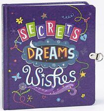 Key Lock Secret Diary Memories Wish Dreams Kid Girl Christmas Gift Book Journal