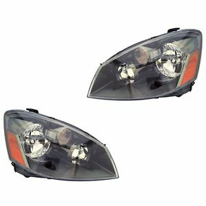 Fits 05-06 Nissan Altima Driver + Passenger Side Headlight Lamp Assembly 1 Pair