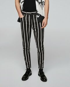 4c23a84fe8e Image is loading ZARA-MAN-SPECIAL-EDITION-STRIPED-PRINTED-TROUSERS-PANTS-