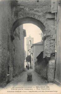 Arancione-Vieille-Porta-Romana-Rue-Pontillac-Vaucluse-Illustrato