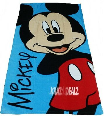Official Licensed Disney and Character Cotton Beach Towel Boys Girls Kids Gift