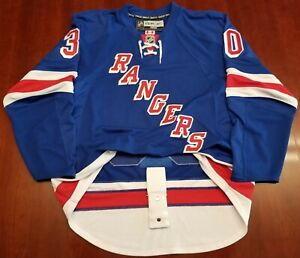 cheap for discount 19a56 0d12e Details about Henrik Lundqvist Reebok Edge 1.0 Authentic New York Rangers  Jersey